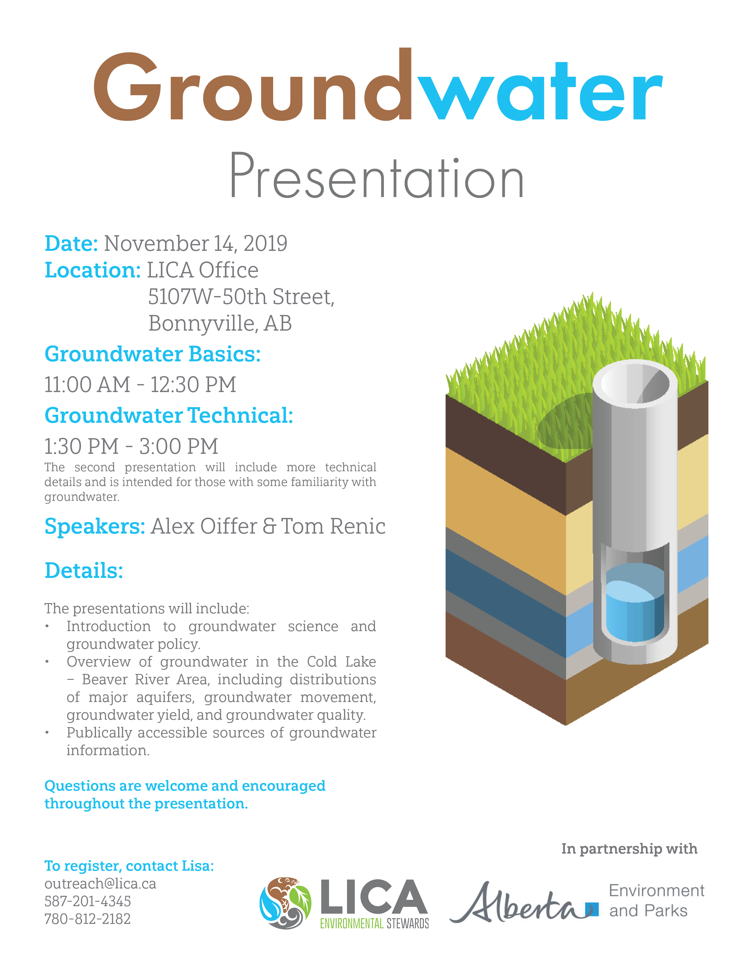Groundwater Presentation @ LICA Office