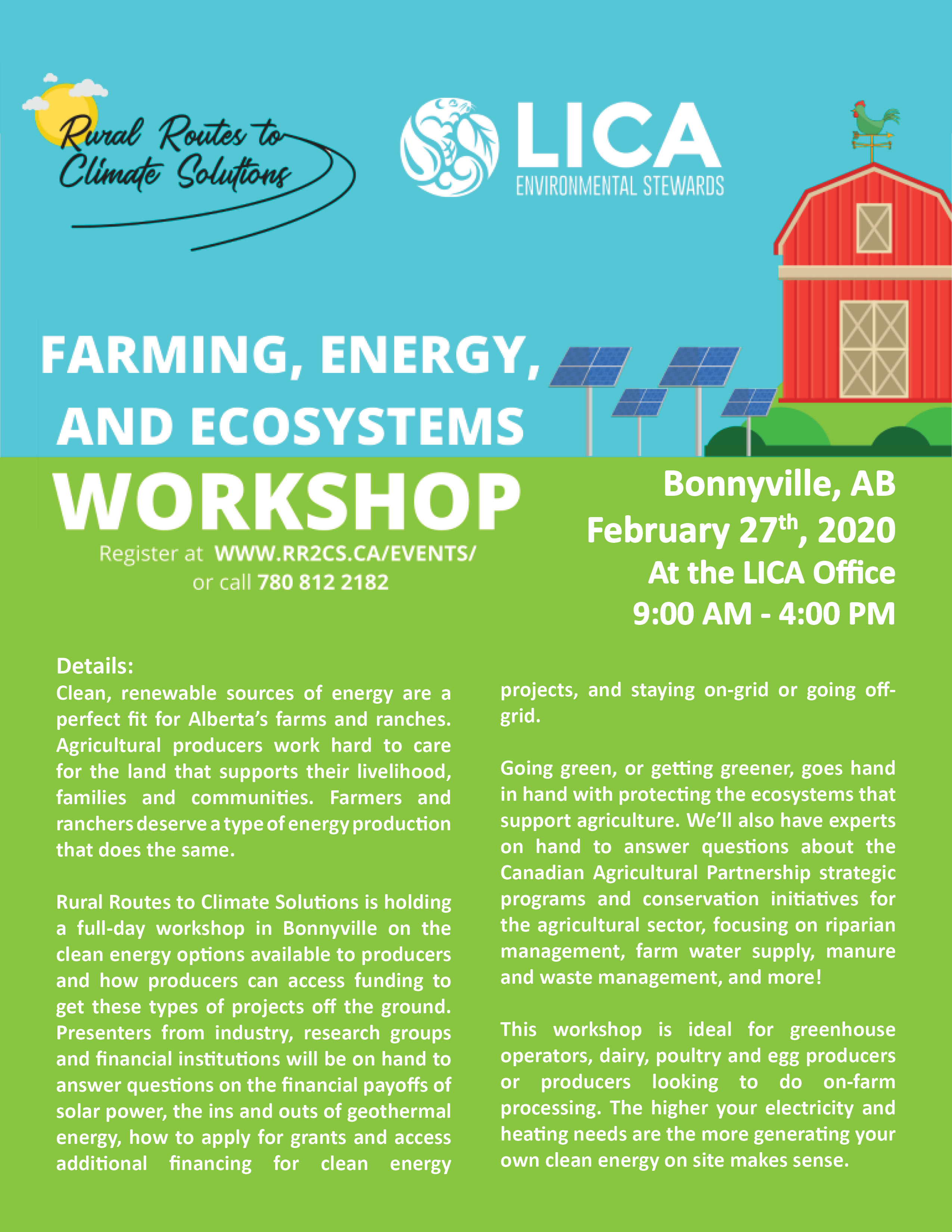 Farming, Energy, and Ecosystems Event