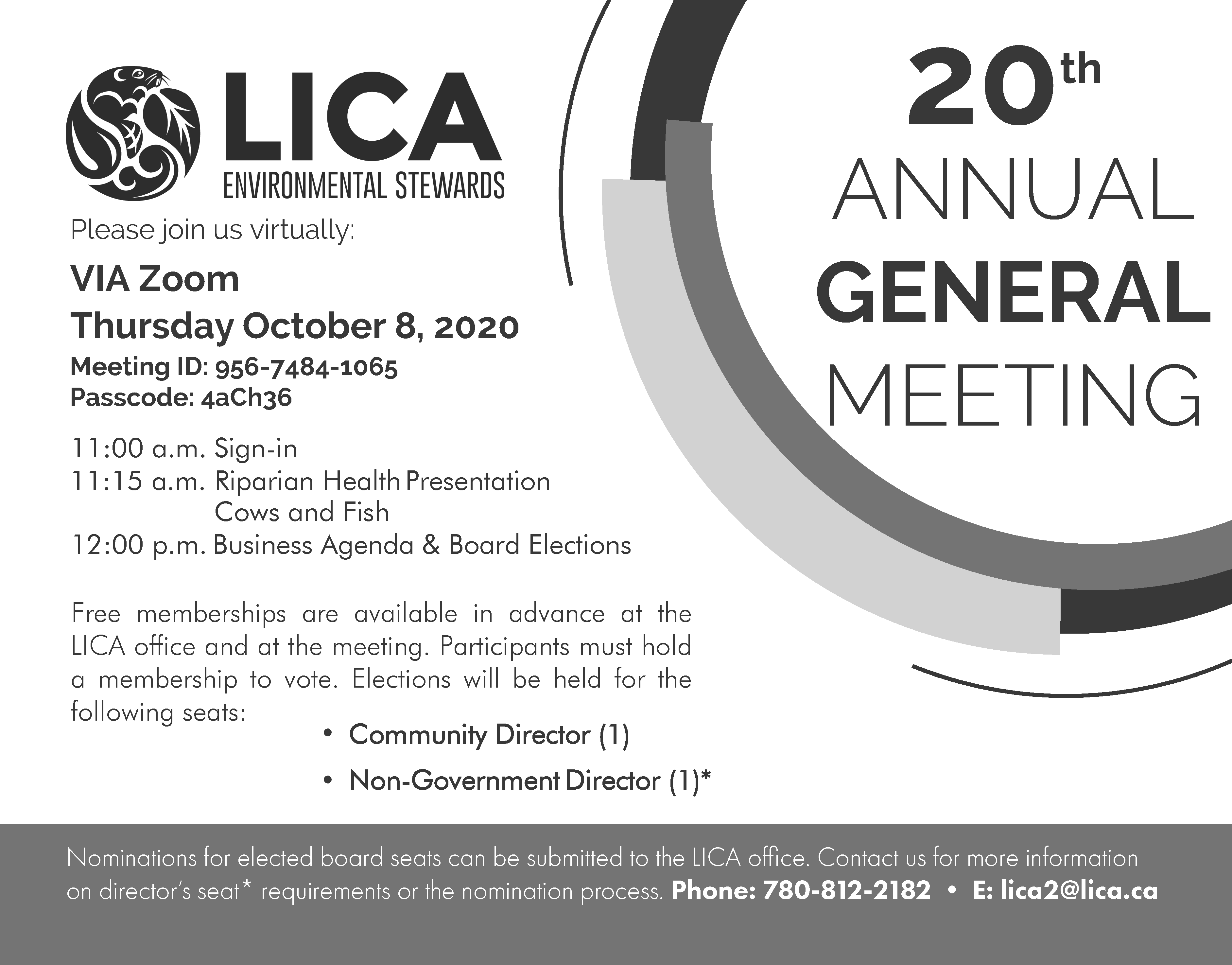 LICA's 20th Annual General Meeting @ VIA Zoom